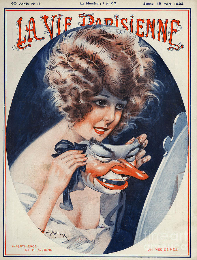 1920s Drawing - La Vie Parisienne  1922 1920s France by The Advertising Archives
