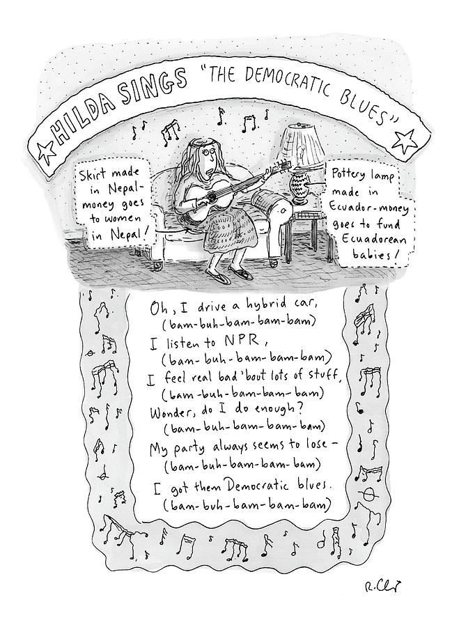 The Democrat Blues Drawing by Roz Chast