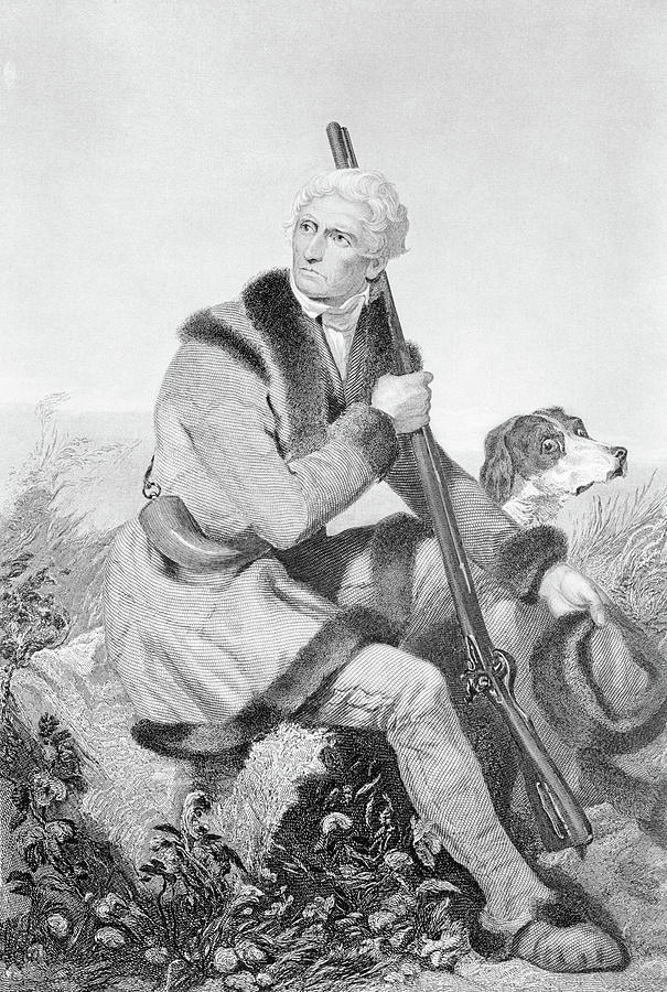 Vertical Photograph - 1810s Senior Daniel Boone Hunting by Animal Images