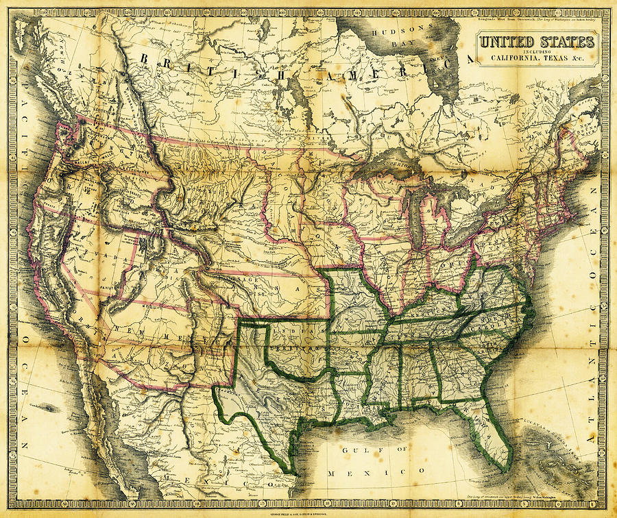 1861 United States Map