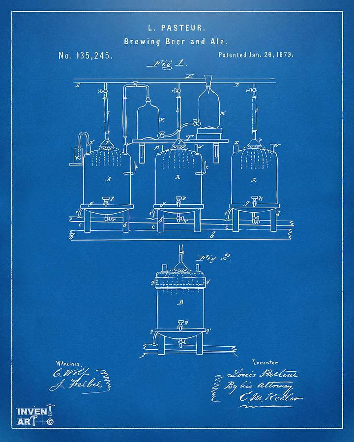 1873 brewing beer and ale patent artwork blueprint digital art beer digital art 1873 brewing beer and ale patent artwork blueprint by nikki marie malvernweather Images