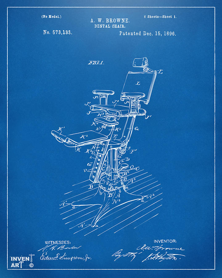 Nikki marie smith website 1896 dental chair patent blueprint by nikki marie smith malvernweather Images