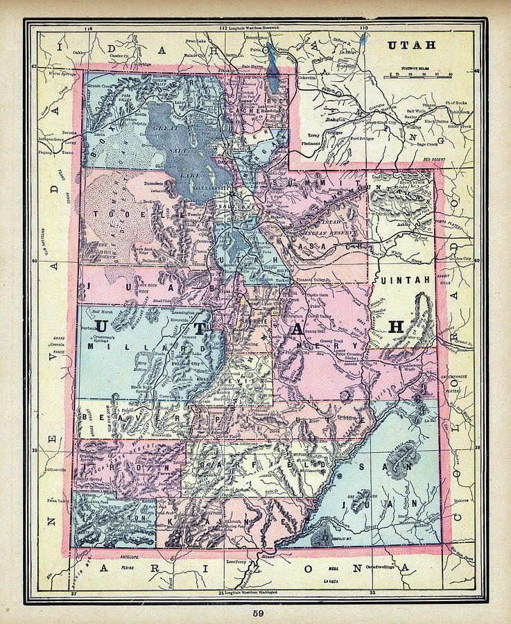 1896, Utah, World Atlas by Historic Map Works LLC on albuquerque world map, stanford world map, dover world map, elk world map, nj world map, dday world map, slovenia world map, eureka world map, phoenix world map, manhattan world map, the pacific islands world map, japan world map, knoxville world map, manitoba world map, des moines world map, tulsa world map, little rock world map, kalahari world map, fremont world map, california world map,