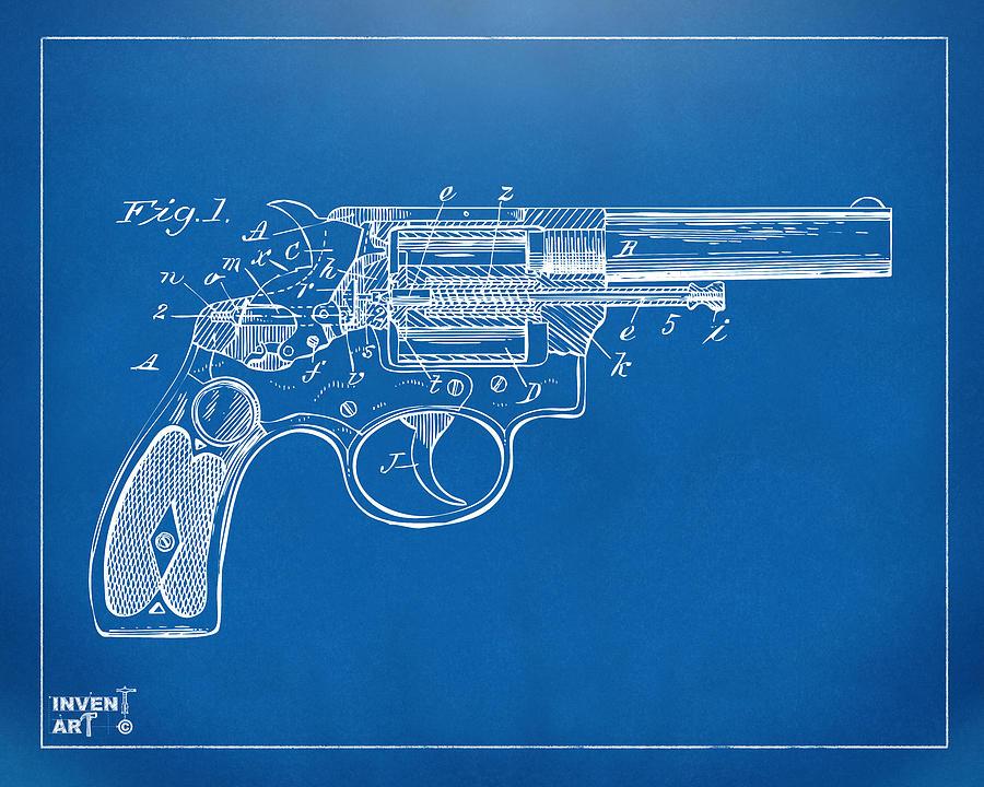 1896 wesson safety device revolver patent minimal blueprint wesson digital art 1896 wesson safety device revolver patent minimal blueprint by nikki marie malvernweather Choice Image