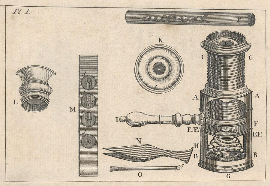 Artwork Photograph - 18th Century Microscope, Artwork by Science Photo Library