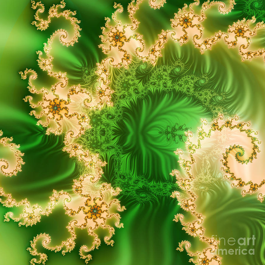 Abstract Ceramic Art - Fantasy Fractal by Odon Czintos