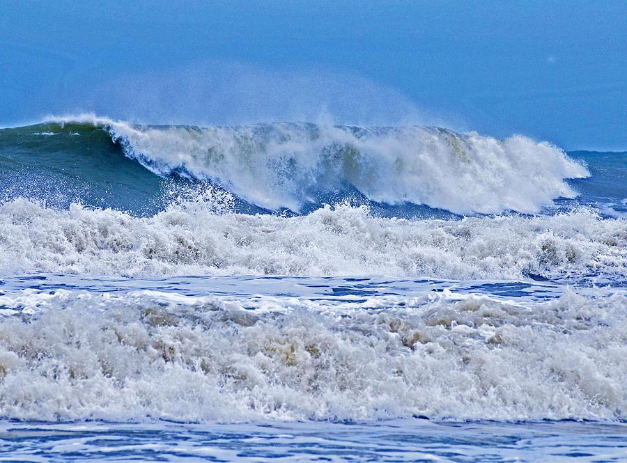 Hurricane Photograph - Hurricane Storm Waves by Millard H. Sharp