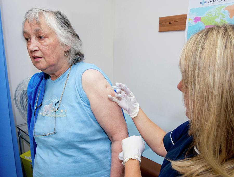 Human Photograph - Seasonal Flu Vaccine by Dr P. Marazzi/science Photo Library