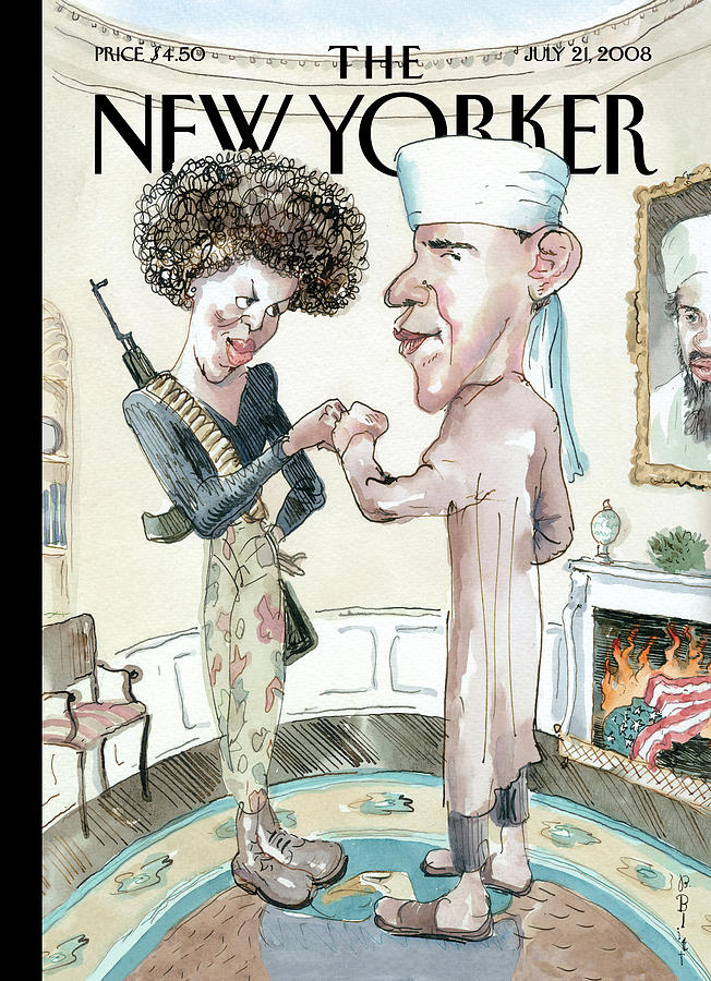 The Politics of Fear Painting by Barry Blitt
