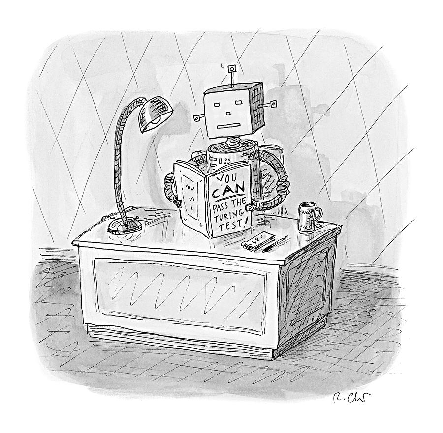Robot Drawing - New Yorker March 6th, 2017 by Roz Chast
