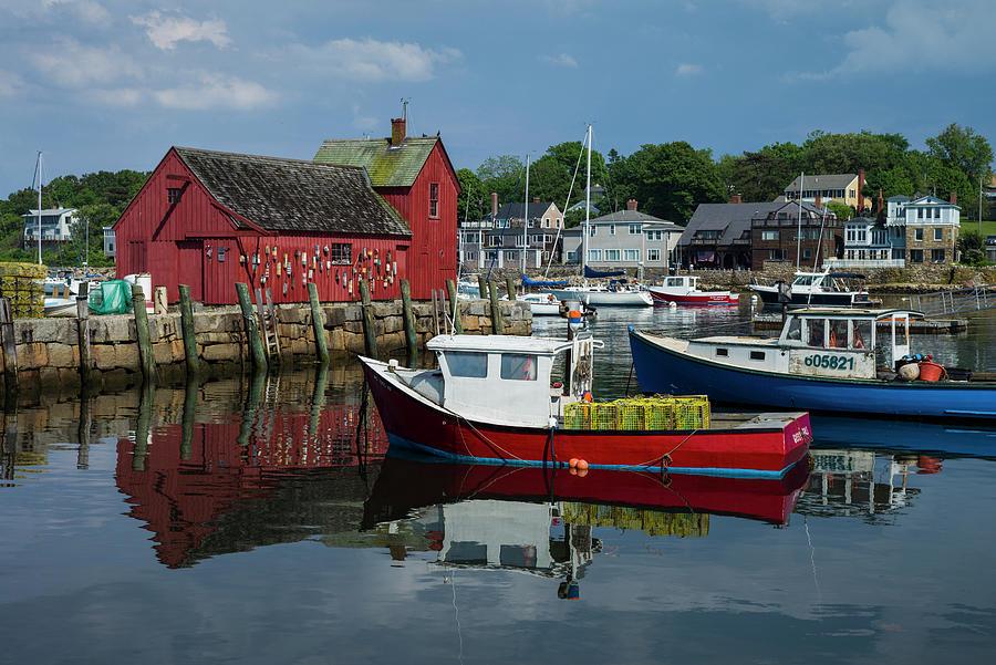 Boat Photograph - Usa, Massachusetts, Cape Ann, Rockport by Walter Bibikow