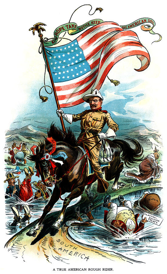 1902 Rough Rider Teddy Roosevelt Painting By Historic Image