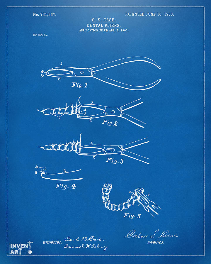Nikki marie smith website 1903 dental pliers patent blueprint by nikki marie smith malvernweather Images