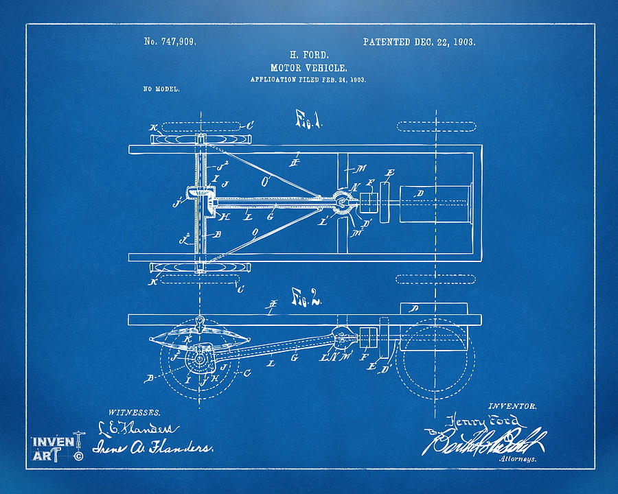 1903 henry ford model t patent blueprint digital art by nikki henry ford digital art 1903 henry ford model t patent blueprint by nikki marie smith malvernweather Image collections