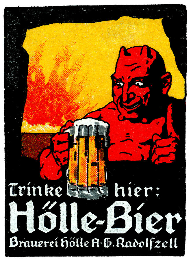 1905 German Beer Poster Painting By Historic Image