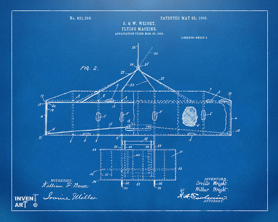 1906 wright brothers airplane patent blueprint digital art by wright brothers digital art 1906 wright brothers airplane patent blueprint by nikki marie smith malvernweather