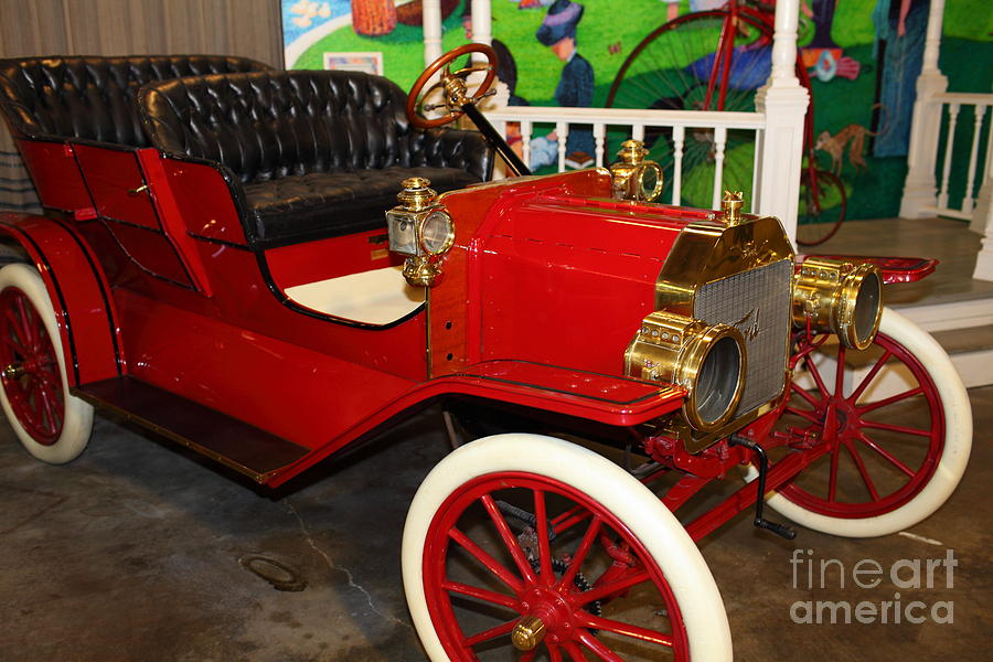 Transportation Photograph - 1908 Ford Model T Touring 5d25560 by Wingsdomain Art and Photography