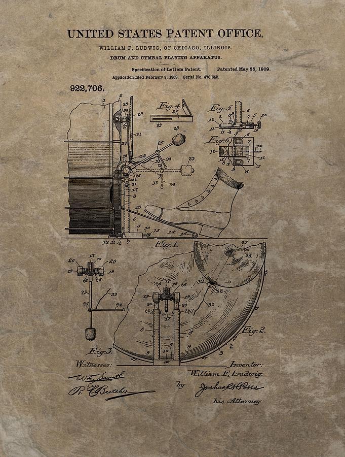 1909 Drum Patent Drawing