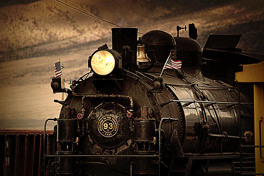 Train Photograph - 1909 Steam Engine 1909 by Jeanne  Bencich-Nations