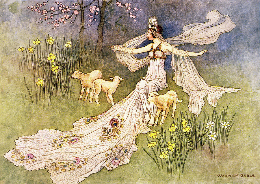 Horizontal Painting - 1910s Illustration Fairy Tale The Fairy by Vintage Images
