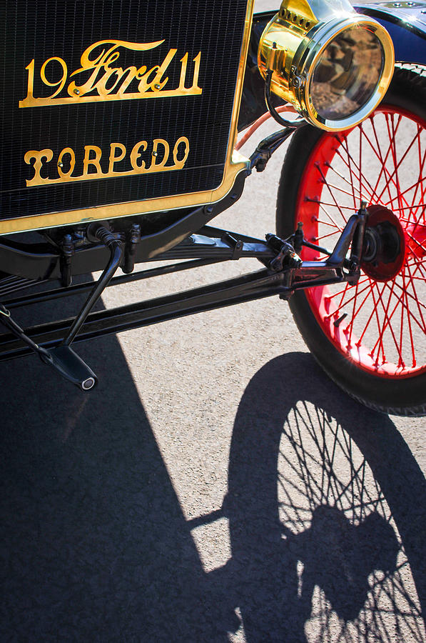 Horseless Carriage Photograph - 1911 Ford Model T Torpedo Grille Emblem by Jill Reger
