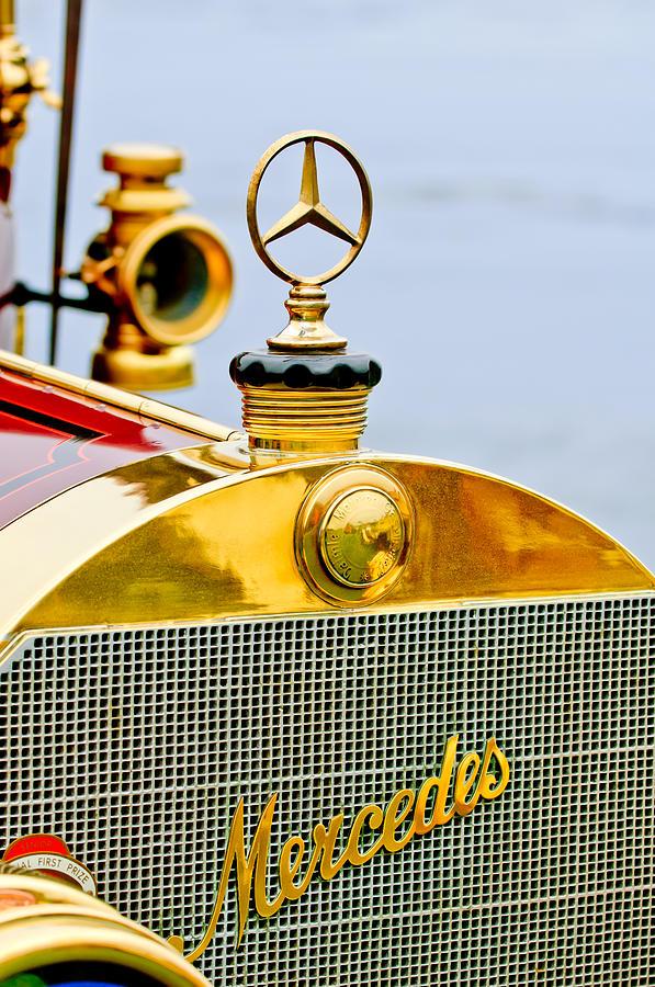 Mercedes Benz Emblem Photograph - 1911 Mercedes 50 HP Maythorn Tourer Hood Ornament by Jill Reger