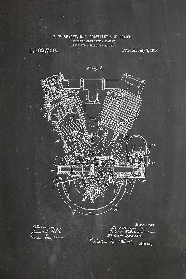 1914 engine patent art chalkboard digital art by industrial prints patent digital art 1914 engine patent art chalkboard by industrial prints malvernweather Images