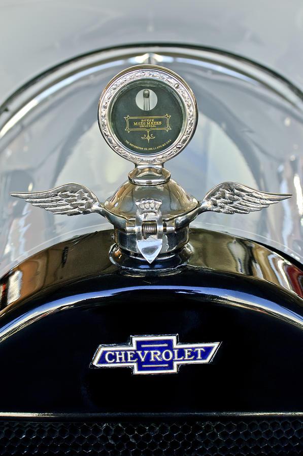 Boyce Motometer Photograph - 1915 Chevrolet Touring Hood Ornament by Jill Reger