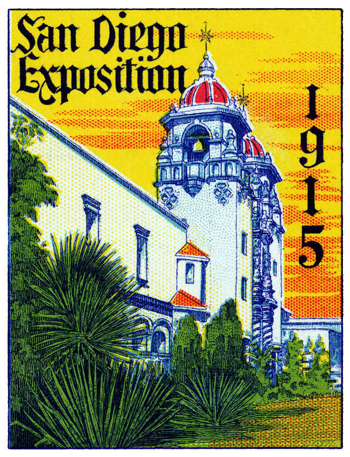 1915 San Diego Exposition Painting By Historic Image