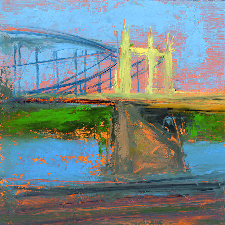Bridges Painting - Untitled 158 by Chris N Rohrbach