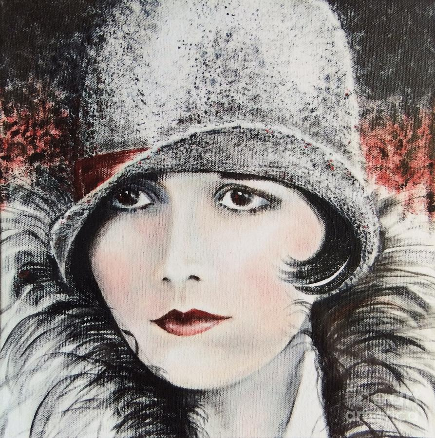 Flapper Painting - Louise Brooks by Barbara Chase