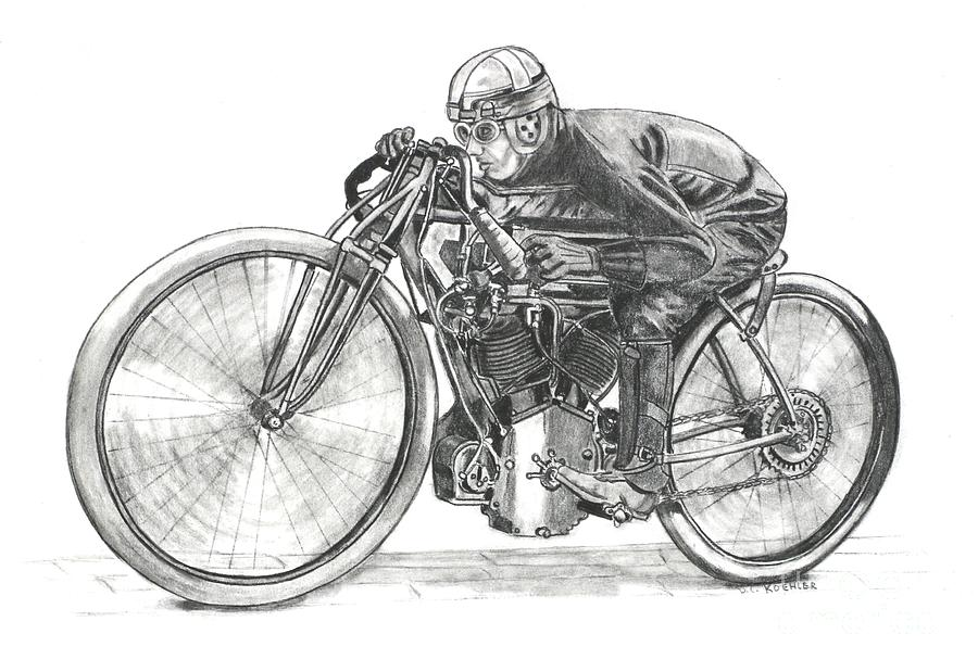 Board Track Racer Drawing
