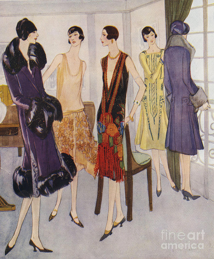 1920�s Drawing - 1920s Fashion  1925 1920s Uk Womens by The Advertising Archives