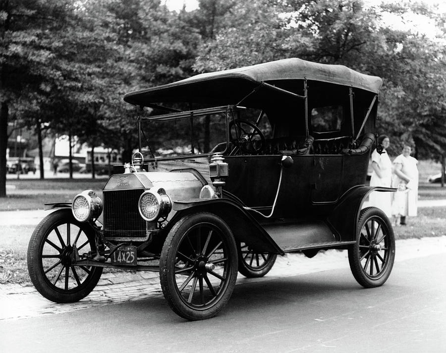 1920s Model T Ford Touring Car Photograph By Vintage Images