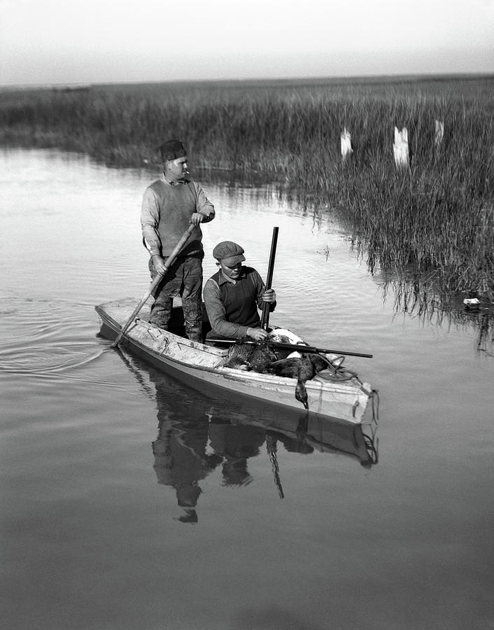 1920s Two Men Duck Hunters by Vintage Images