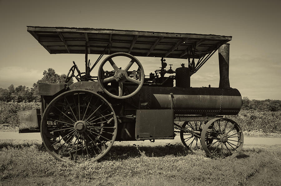 1921 Photograph - 1921 Aultman Taylor Tractor by Debra and Dave Vanderlaan