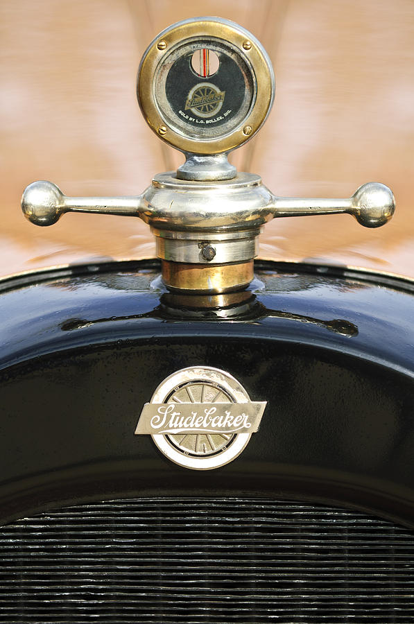 Vintage Hood Ornament Photograph - 1922 Studebaker Touring Hood Ornament by Jill Reger