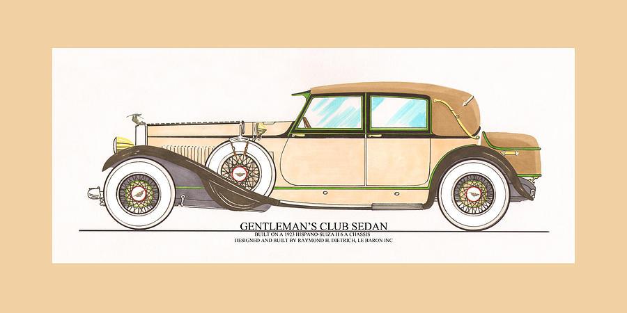 Car Photography Painting - 1923 Hispano Suiza Club Sedan By R.h.dietrich by Jack Pumphrey