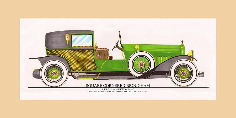 Car Art Painting - 1923 Minerva By Raymond H. Dietrich Lebaron Inc by Jack Pumphrey