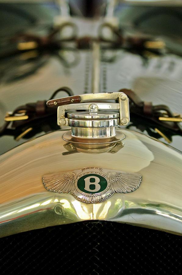 Radiator Cap Photograph - 1925 Bentley 3-liter 100mph Supersports Brooklands Two-seater Radiator Cap by Jill Reger