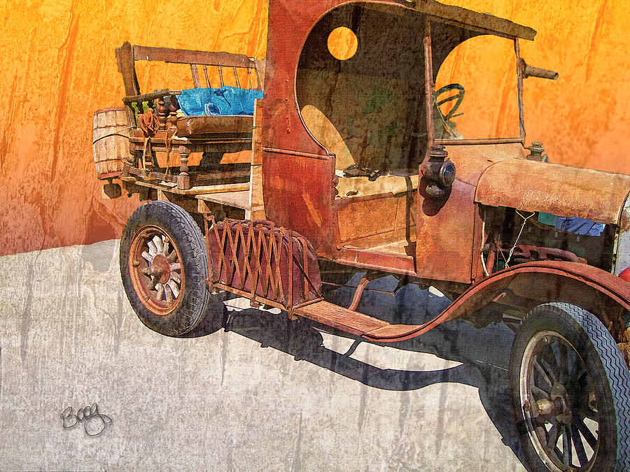 Ford Photograph - 1925 Ford Truck by Larry Bishop