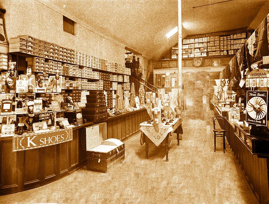 Shoe Store Photograph - 1925 Irish Shoe Store by Ericamaxine Price