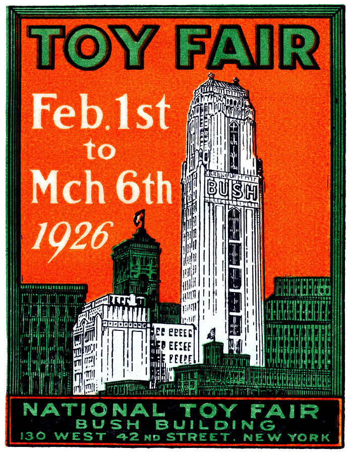 Vintage Painting - 1926 New York City Toy Fair Poster by Historic Image