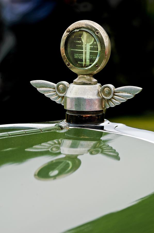 Radiator Cap Photograph - 1927 Chandler 4-door Hood Ornament by Jill Reger