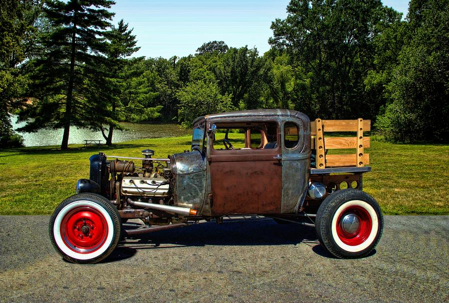 1928 Ford Model A Pickup Rat Rod Photograph By Tim Mccullough