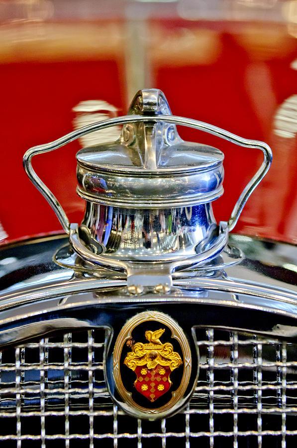 1929 Packard 8 Convertible Coupe Photograph - 1929 Packard 8 Hood Ornament 2 by Jill Reger