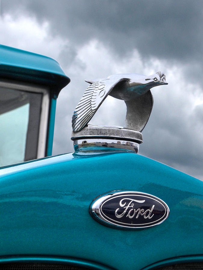 1930 Ford Coupe Flying Quail Hood Ornament Photograph By