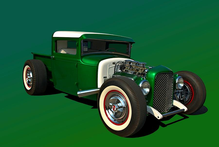 1930 Ford Custom Hot Rod Pickup Photograph by Tim McCullough