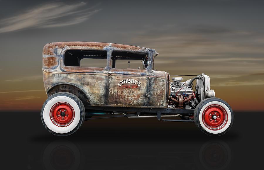 1930 ford sedan hot rod photograph by frank j benz. Black Bedroom Furniture Sets. Home Design Ideas
