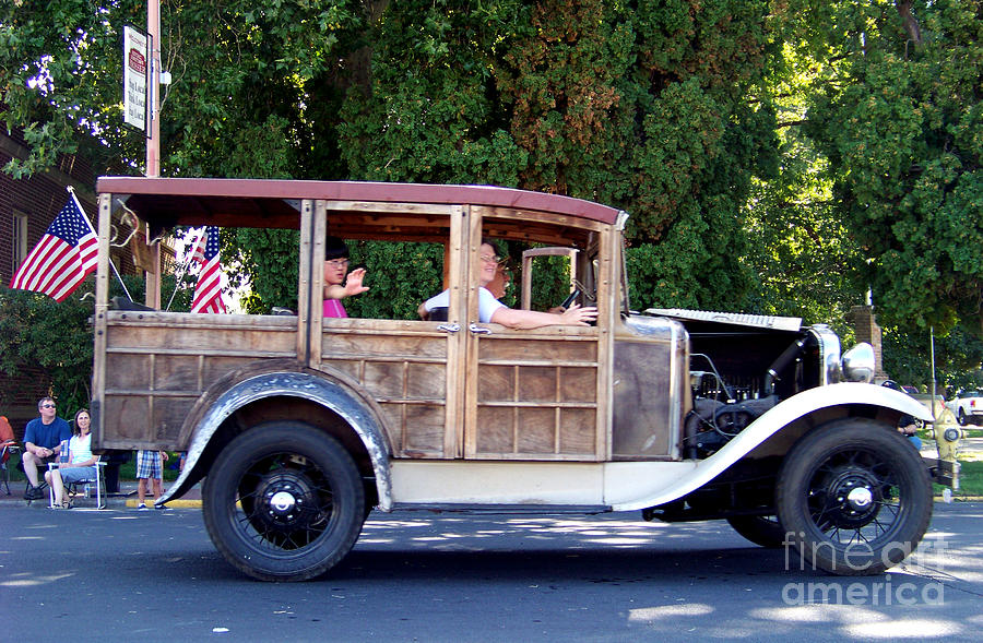 1930 Model A Ford Station Wagon Photograph by Charles Robinson
